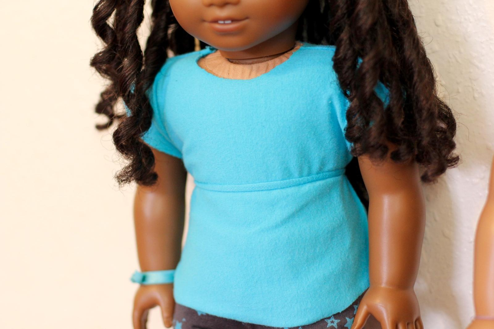 no-sew american girl doll shirt cecile