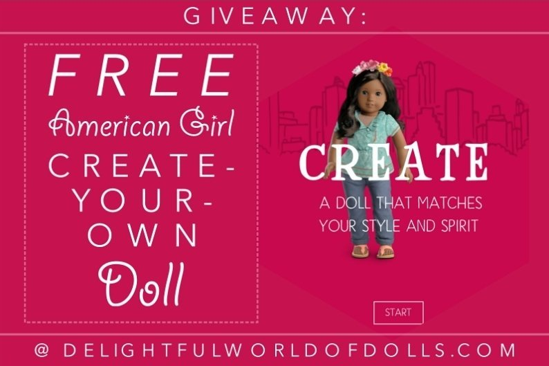 (ENDED) Giveaway: Free American Girl Create-Your-Own Doll