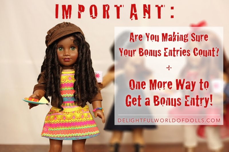Important: Are You Making Sure Your Bonus Entries Count? + One More Way to Get a Bonus Entry!
