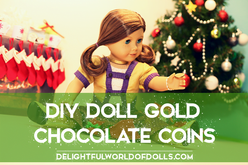 DIY Doll Gold Chocolate Coins