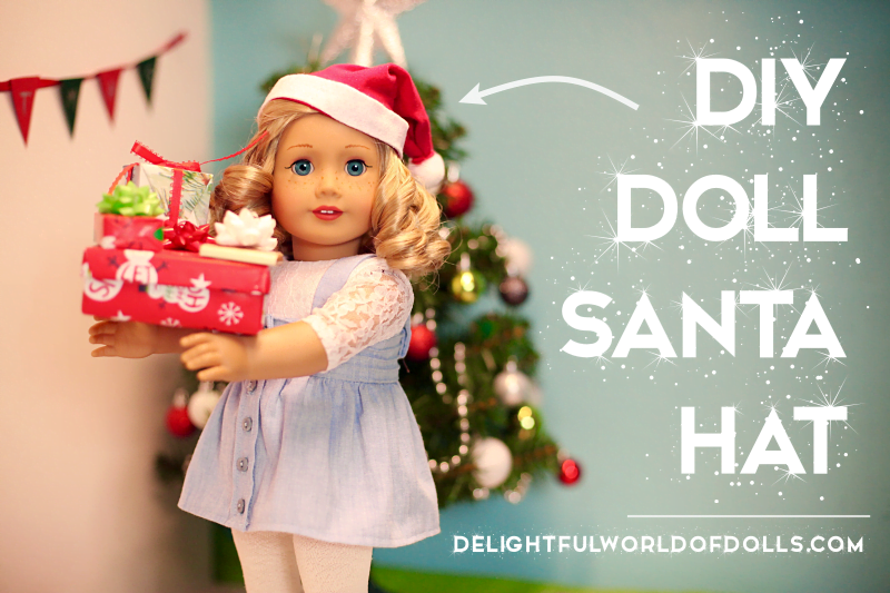 DIY Doll Santa Hat