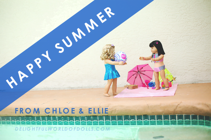 Happy Summer from Chloe and Ellie!