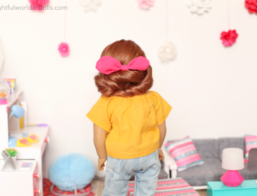 Easy American Girl Doll Hairstyles: Double Twist Bun