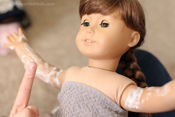 how to remove stains from american girl doll