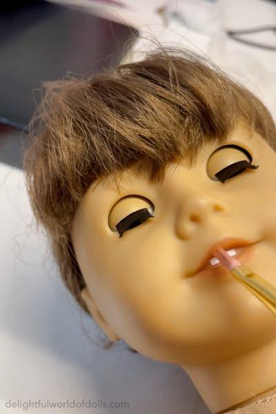 repainting american girl doll face