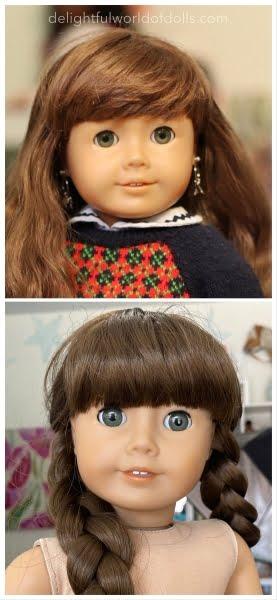 rewigging american girl doll